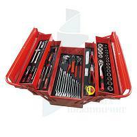 Ящик переносной с набором инструмента AmPro T47131, 76 позозиций, 5 отделений