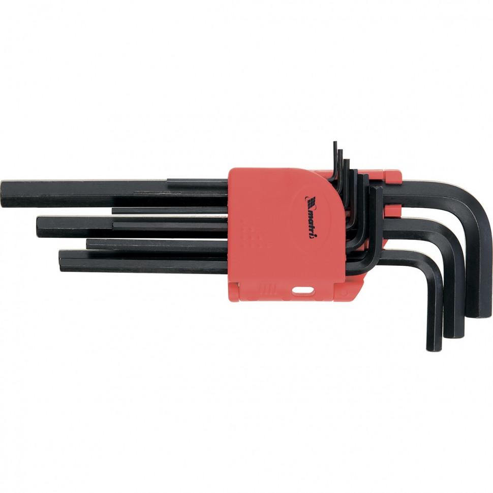 Набор ключей имбусовых HEX, 1,5–10 мм, CrV, 9 шт., удлиненные MATRIX
