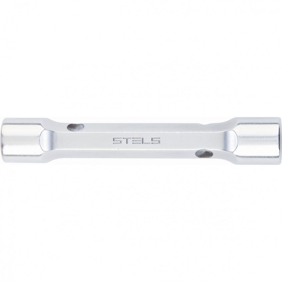 Ключ трубка торцевой усиленный, 10х12 мм, CrV Stels
