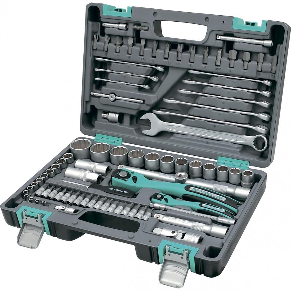 Набор инструментов 82 предмета, 12 гранные головки STELS