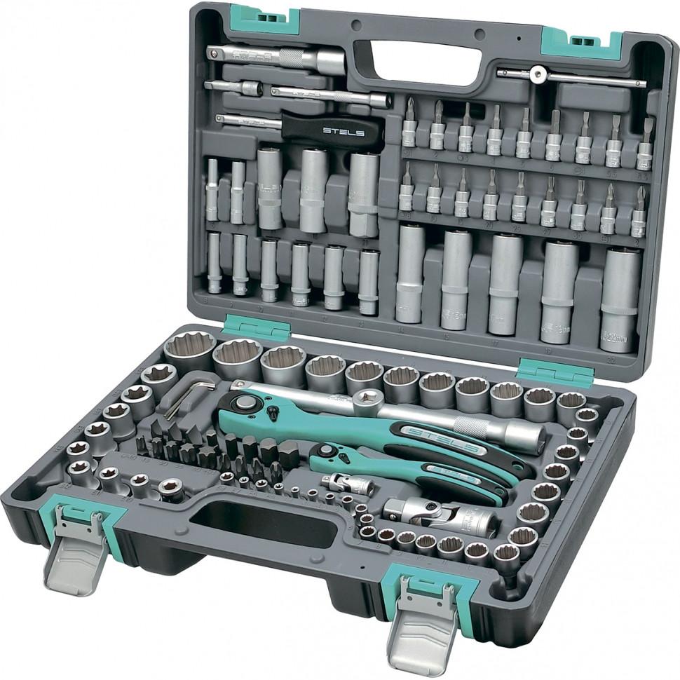 Набор инструментов 109 предметов 12 гранные головки STELS