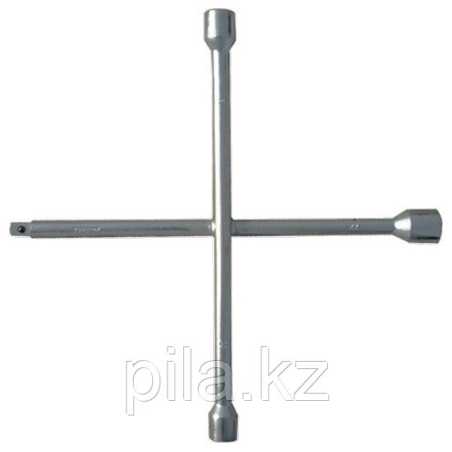 "Ключ-крест баллонный, 17 х 19 х 21 мм, под квадрат 1/2"", толщина 14 мм СИБРТЕХ"