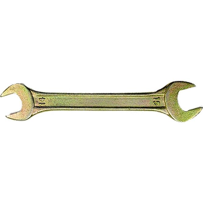 Ключ рожковый, 8 х 10 мм, желтый цинк СИБРТЕХ