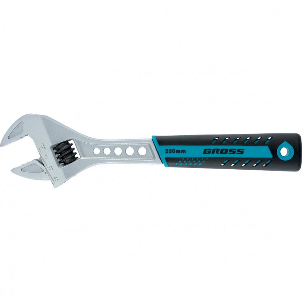Ключ разводной, 200 мм,CrV, двухкомпонентная ручка GROSS