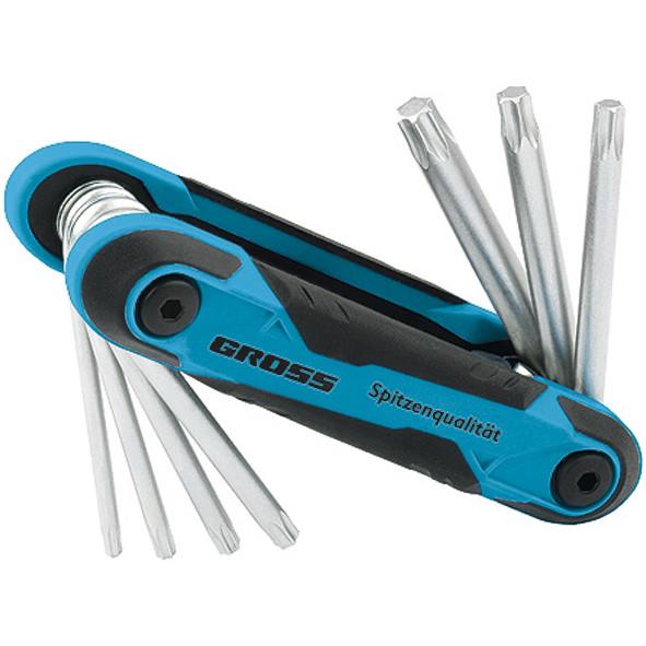 Набор ключей имбусовых Tamper-Torx, складные, 8 шт., CrV Gross