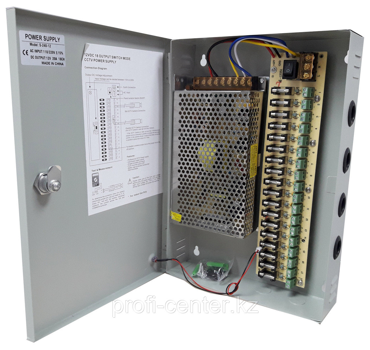Блок питания стабилизированный БПУ 12V20A 12V 20A выход 18 контактов