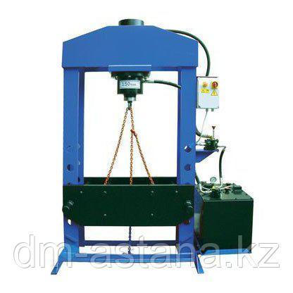 Пресс гидравлический, электропривод, подвижный поршень, 100 тонн, ОМА 666B (Италия)