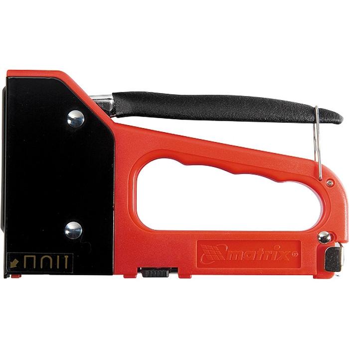 Степлер мебельный 4-функциональный пластиковый, тип скобы:53, 28, 300, 500, 6-14 мм MATRIX MASTER