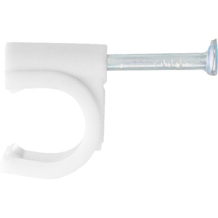 Скобы электроустановочные, 12 мм, круглый профиль, 40 шт. СИБРТЕХ