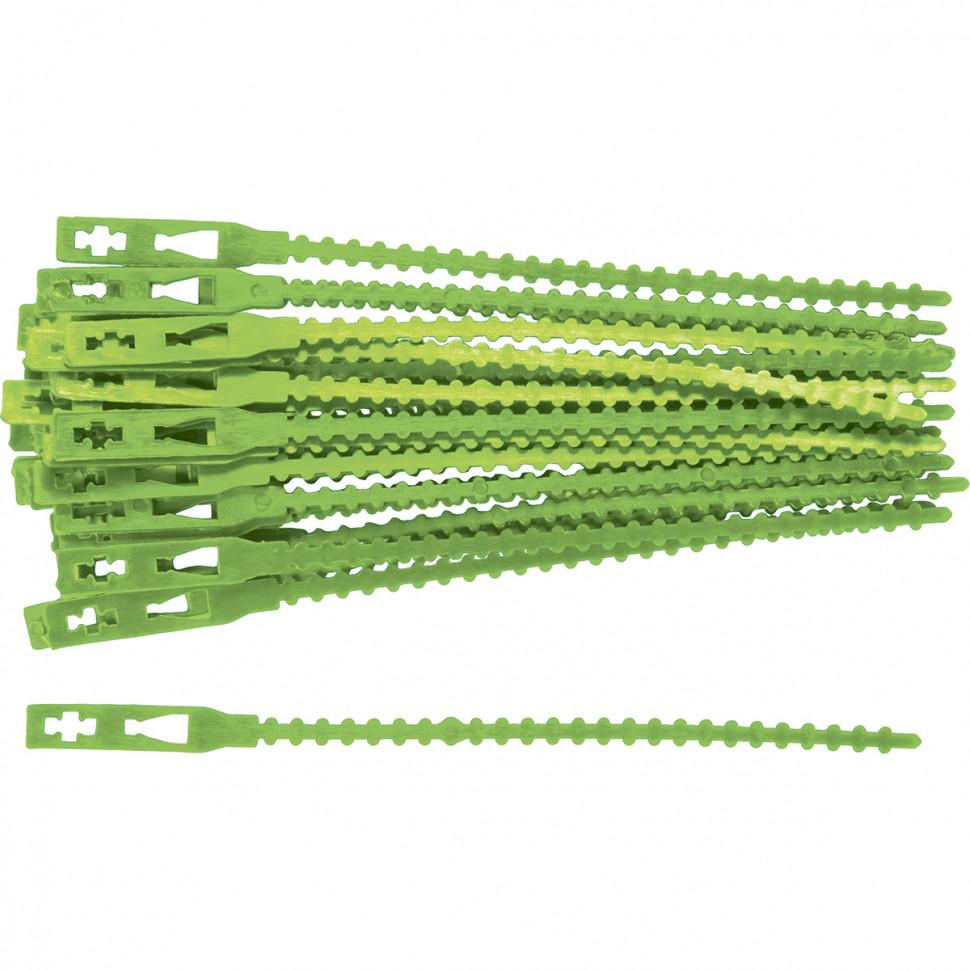 Подвязки для садовых растений 17 см. пластиковые, 50 штук PALISAD