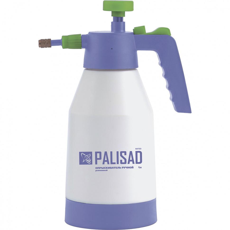 Опрыскиватель ручной, усиленный 1 литр, с насосом, поворотный распылитель, клапан сброса давления PALISAD
