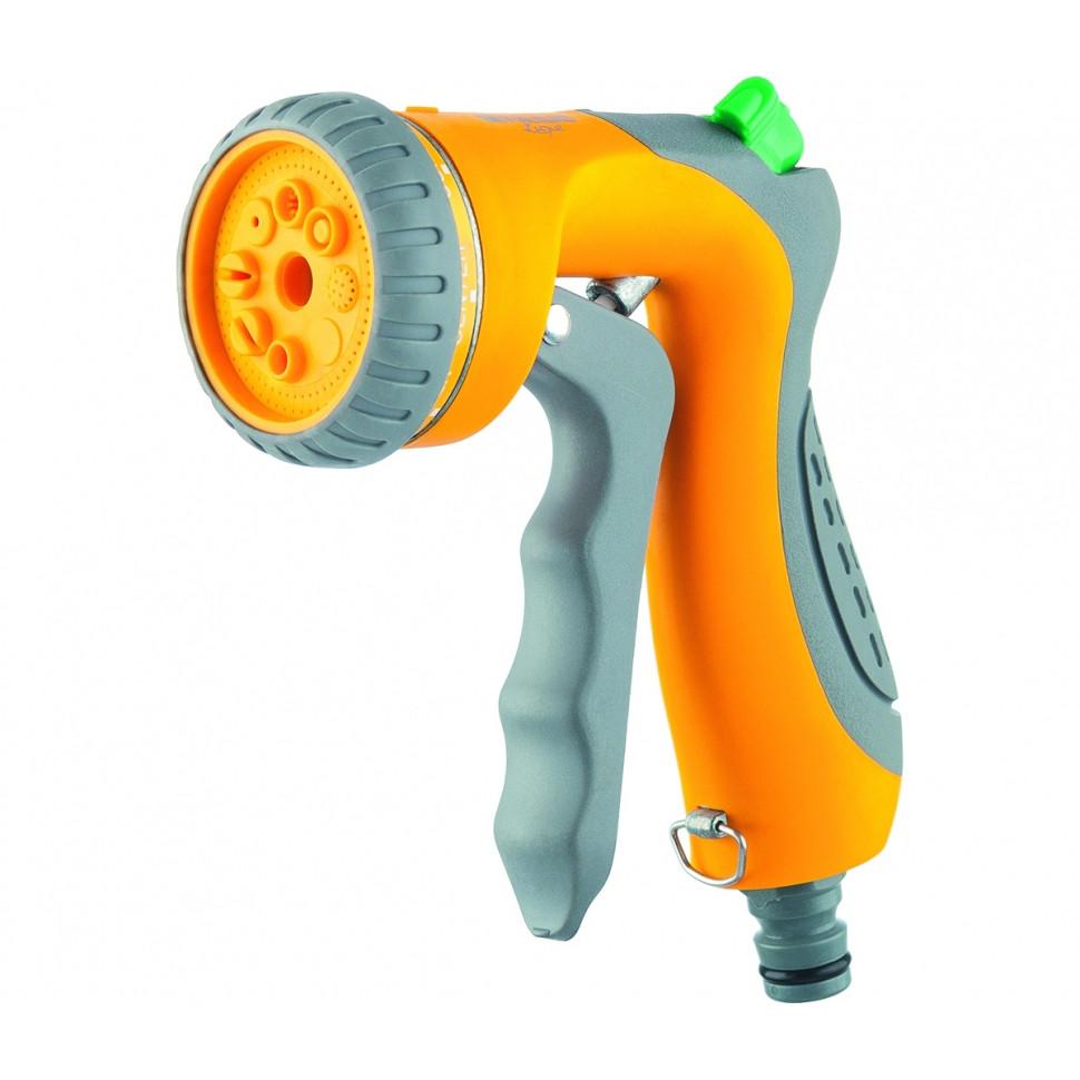 Пистолет-распылитель, 8-режимный, курок спереди, регулятор напора, эргономичная рукоятка PALISAD LUXE