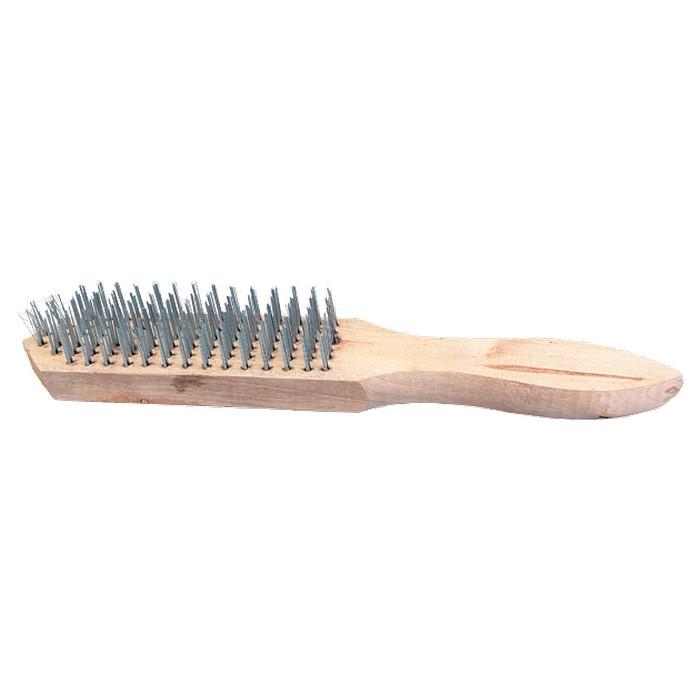 Щетка 6-рядная металлическая с деревянной ручкой SPARTA