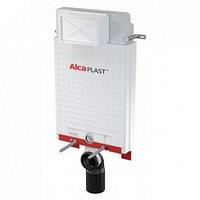 Смывной бачок скрытого монтажа AlcaPlast для приставного унитаза. Кнопка белая М 070