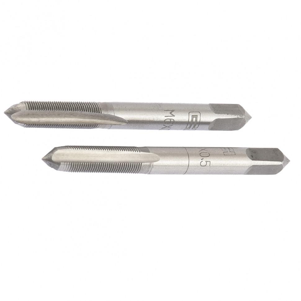 Метчик ручной М5 х 0,8 мм, комплект из 2 шт. СИБРТЕХ