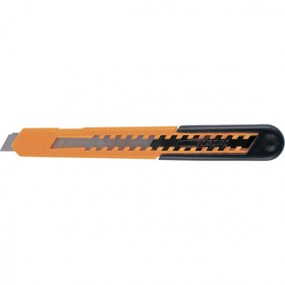 Нож, 9 мм, выдвижное лезвие, пластиковый усиленный корпус SPARTA