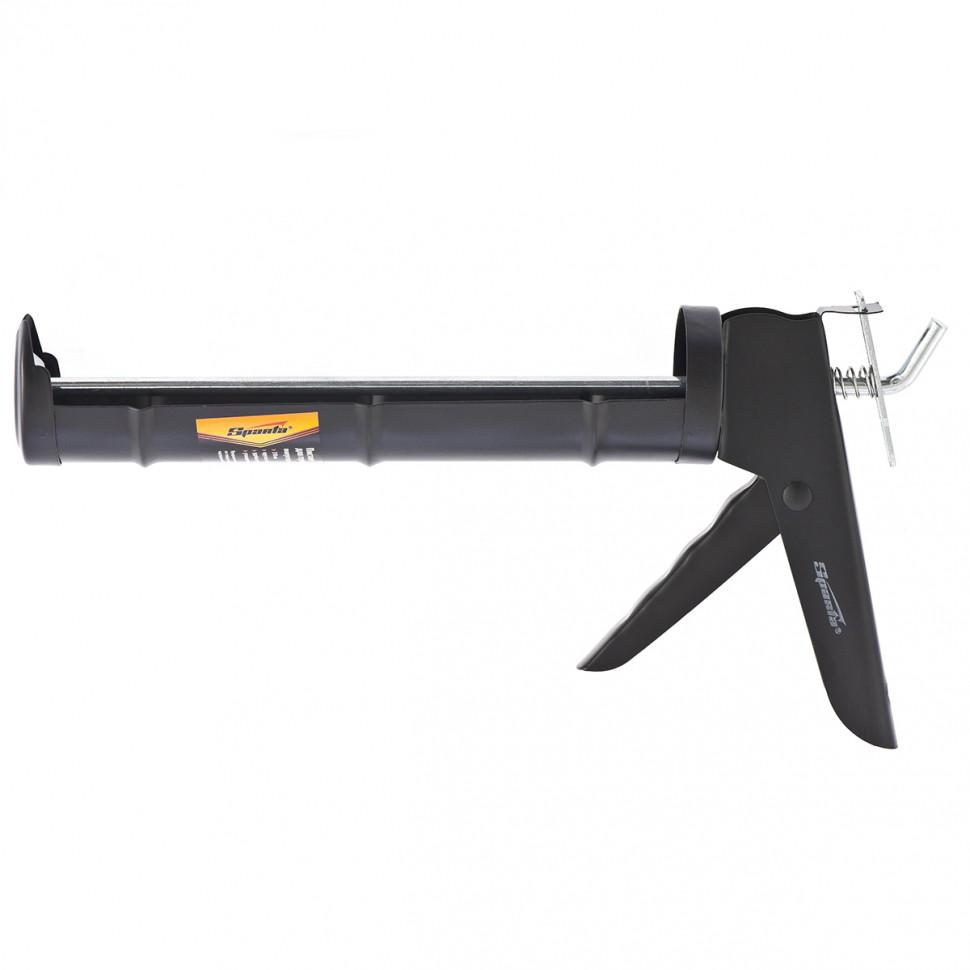"""Пистолет для герметика, 310 мл, """"полуоткрытый"""", круглый шток 7 мм, утолщенные стенки SPARTA"""