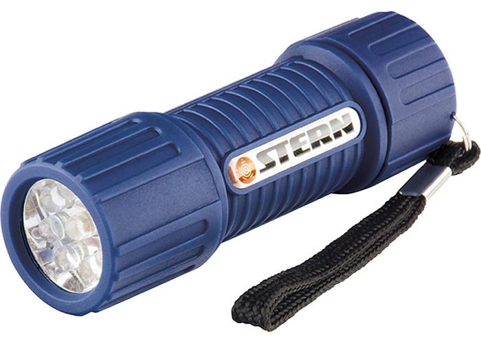 Фонарь светодиодный, синий корпус с мягким покрытие, 9Led, 3хААА, Stern