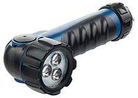 Фонарик светодиодный, противоударный, влагозащищённый, 3 ярких Led, 2хLR20 STERN
