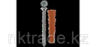 Дюбель универсальный полипропиленовый с бортиком и шурупом