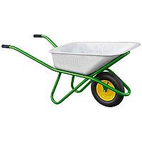 Тачка садово-строительная одноколесная, усиленная, грузоподъемность 200 кг, объем 90 л PALISAD
