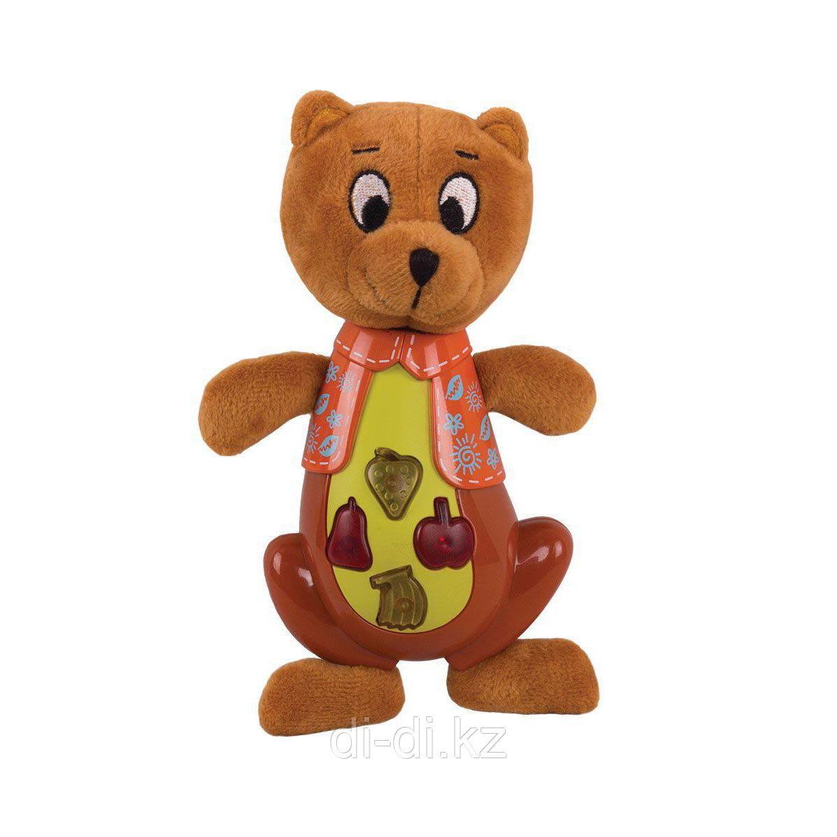 """Музыкальная игрушка Happy Snail """"Медвежонок Берни"""" (звук) 17 см"""