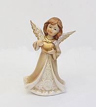 Статуэтка Ангел с сердцем. Ручная работа, керамика, Италия