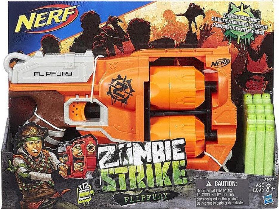 Бластер Nerf Zombie Strike Flipfury Зомби страйк Переворот , A9603 - фото 1