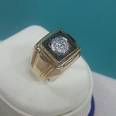 """Кольцо мужское """"Versace"""" / красное золото - 21 размер"""