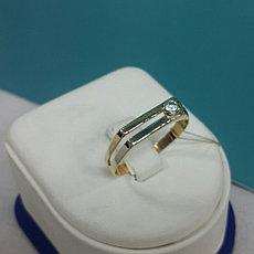 Кольцо с цирконом мужское / красное золото - 21 размер