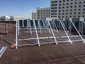 Спортивный зал - 30 коллекторов на плоской крыше 4