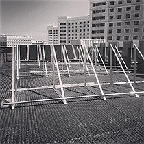 Спортивный зал - 30 коллекторов на плоской крыше 5