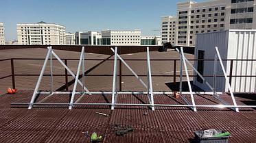 Спортивный зал - 30 коллекторов на плоской крыше 6