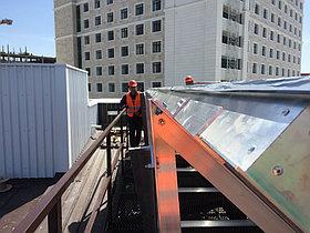 Спортивный зал - 30 коллекторов на плоской крыше 9