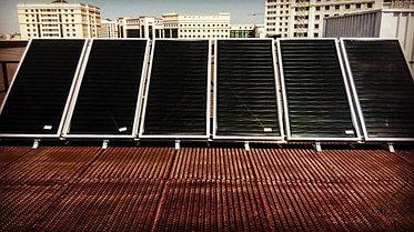 Спортивный зал - 30 коллекторов на плоской крыше 17