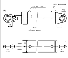 Гидроцилиндр бульдозера ЦГ-125.70х400.11