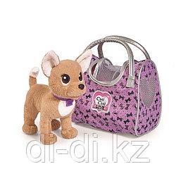 Мягкая собачка CHI CHI LOVE Путешественница с сумкой-переноской