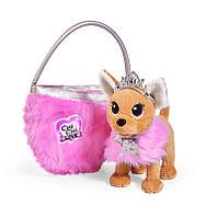 Мягкая собачка CHI CHI LOVE Принцесса с пушистой сумкой, фото 1