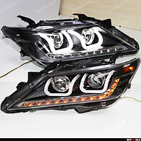 Передние фары на Toyota Camry V50 2011-15 дизайн U-style