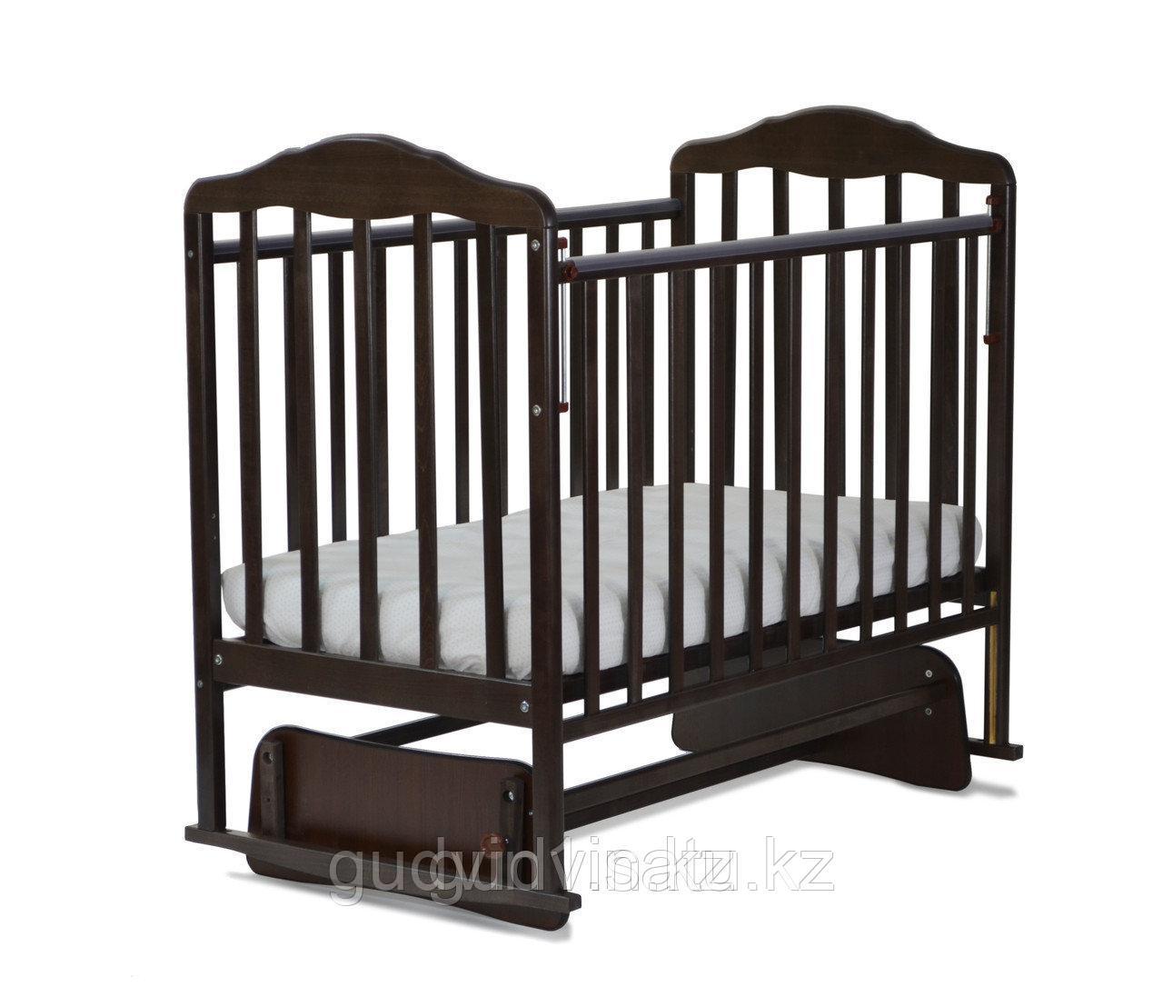 СКВ Кровать детская МИТЕНЬКА (маятник поперечный) венге