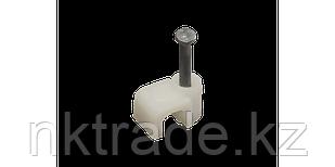 Cкоба-держатель для кабеля (прямоугольная, с гвоздем)