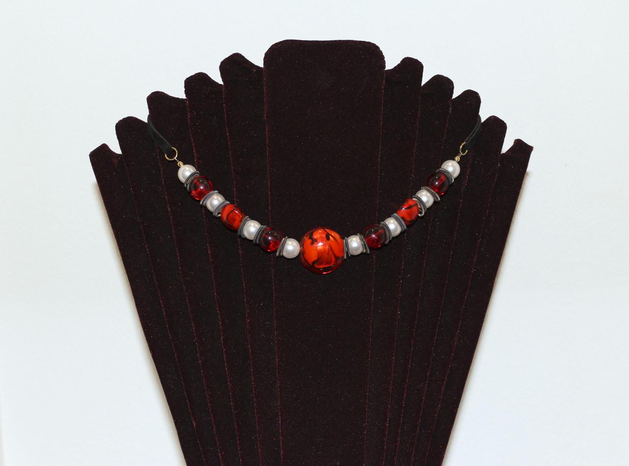 Ожерелье из муранского стекла, ручная работа Италия,Tomassi