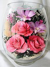 Живые цветы в стекле VSM