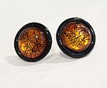 Серьги-гвоздики из муранского стекла,ручная работа,Италия, фото 3