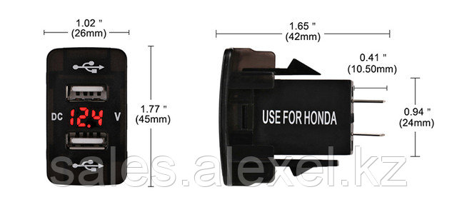 USB-автозарядка с вольтметром