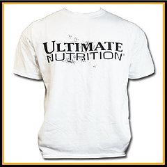 Футболка белая Ultimate Nutrition размер - L