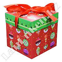 Подарочная новогодняя упаковка 10*10 см (маленькая) Елочные игрушки YX-1S