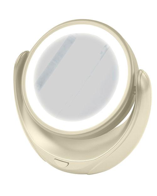 Зеркало косметическое с подстветкой MARTA MT-2653 молочный жемчуг