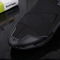 Ультра модные кроссовки Y3 черные с бархатом, фото 1