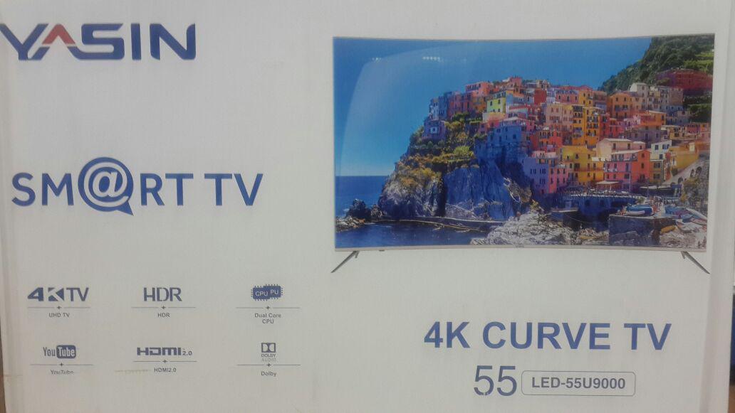Телевизор YASIN LED-55U9000 SMART, WI-FI, 4K, Curve TV - фото 3